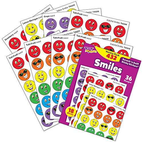 TREND enterprises, Inc. Smiles Stinky Stickers Variety Pack, 432 ct