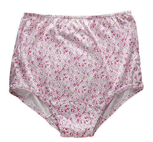 Rosette Women's Full Cut Soft Cotton Brief Panty - Pack of 3 - Various Colors