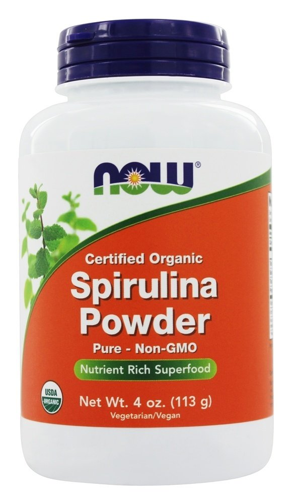 NOW Foods - Spirulina Powder 100% Pure and Natural - 4 oz.