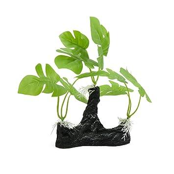 sourcing map Decoración de la Planta DE 8.7 Pulgadas Altura de plástico Verde Hierba árbol Pecera Paisaje: Amazon.es: Productos para mascotas