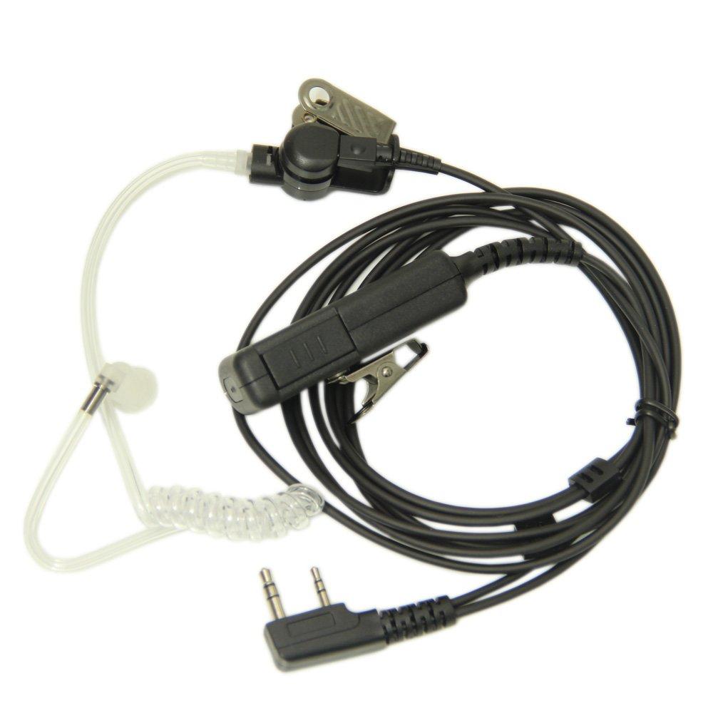 Professional PTT Covert Acoustic Tube Bodyguard FBI Earpiece Headset Mic for 2-pin Kenwood Nexedge Hytera Puxing Wouxun Radio ANT-HST122