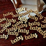 Baby Confetti for Baby Shower Table Decoration 2 Packs (25ct each)