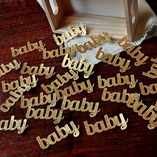Baby Confetti for Baby Shower Table Decoration 2 Packs (25ct (Baby Shower Table Decoration Ideas)