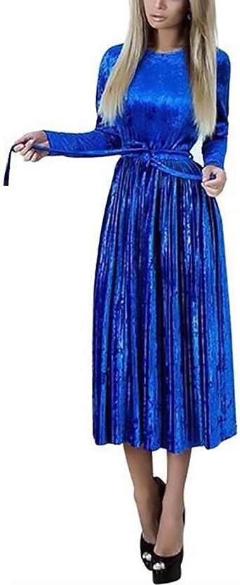 Abiti Da Sera Amazon.Abiti Da Cerimonia Donna Lunghi Eleganti Vintage Velluto Vestiti