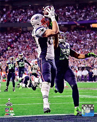 New England Patriots Rob Gronkowski During SuperBowl XLIX. 8x10 Action Photo Picture