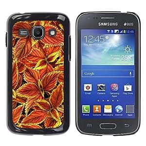 Be Good Phone Accessory // Dura Cáscara cubierta Protectora Caso Carcasa Funda de Protección para Samsung Galaxy Ace 3 GT-S7270 GT-S7275 GT-S7272 // Floral Autumn Maroon Green Red