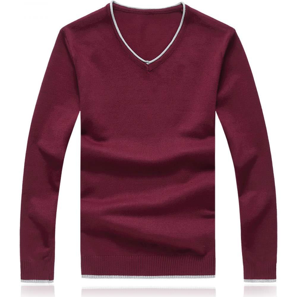 FEIDAO Männer Pullover Herbst Und Winter   Langärmelige Pullover  Herren Fashion Casual Pullover Slim Warme Pullover Männlich