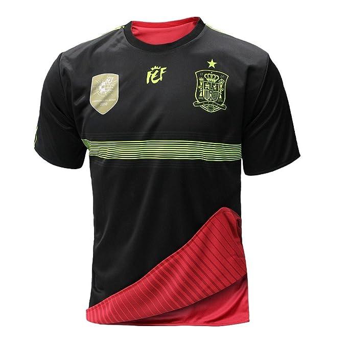 bbff3e5b5c435 Selección española de fútbol. Camiseta oficial reversible. 2 en 1. (S)   Amazon.es  Deportes y aire libre