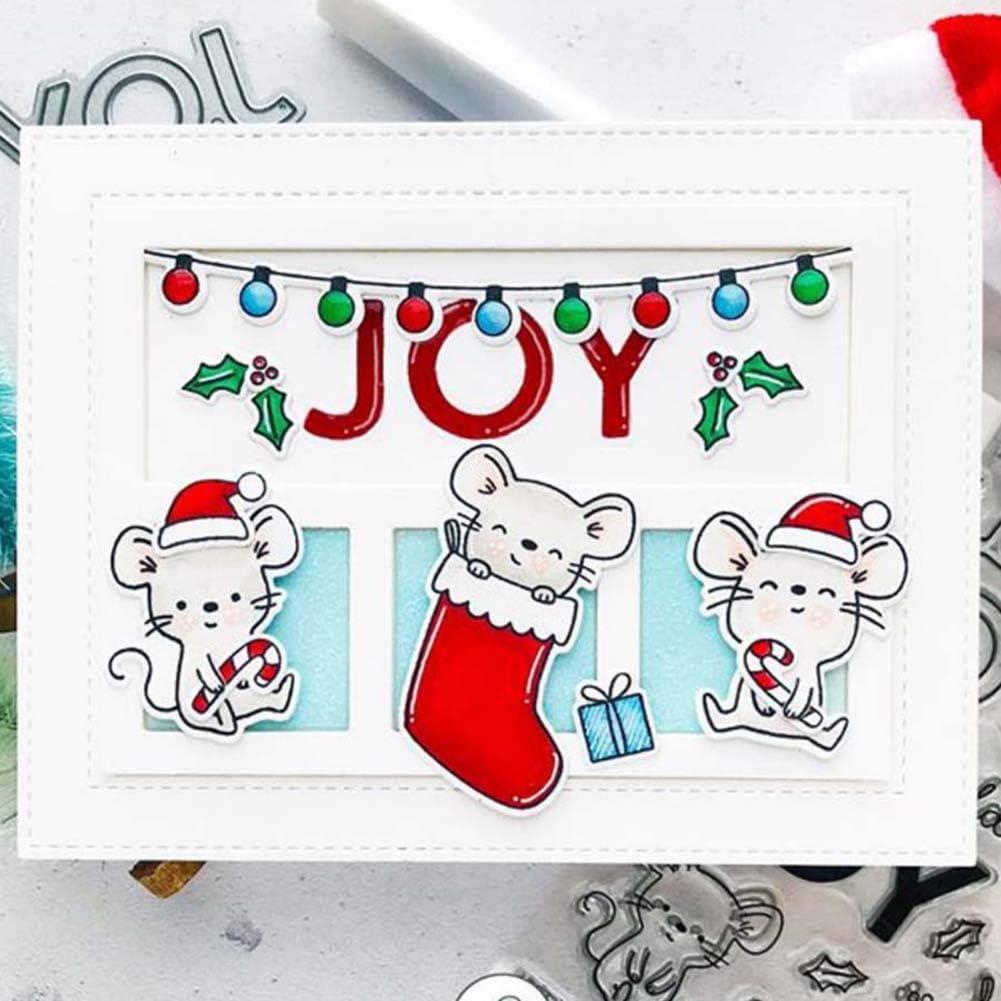 Maserfaliw Cutting Dies Christmas Joy Stamp DIY Scrapbooking Stencil Paper Card Album Mold