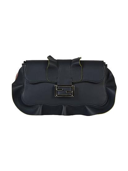 357a79fa37f Fendi Women's 8Br600i8lf06mm-Mcf Blue Leather Shoulder Bag: Amazon.co.uk:  Clothing