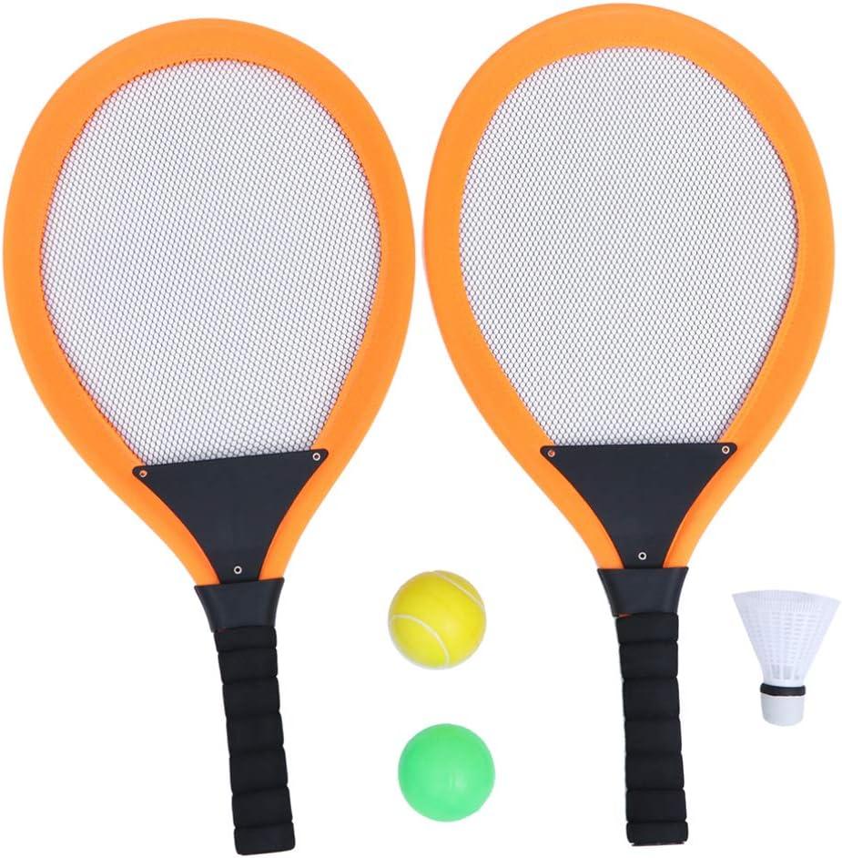 Tomaibaby Juego de Raquetas de Tenis para Niños de 2 Piezas Raqueta de Paleta de Tenis de Playa Juguetes Deportivos para Niños Y Niños Al Azar