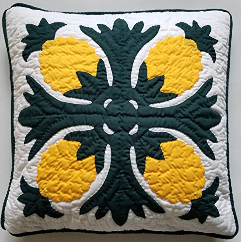 Hawaiian Quilt 2 Pillow Covers, Cushions, 100% Hand Quilted/hand Appliquéd 16