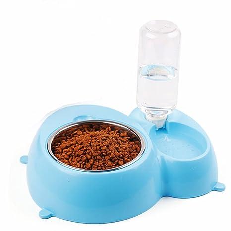 LA VIE 2 en 1 Comedero y Bebedero Extraíbles para Mascotas Perros Pequeños Gatos Gatitos Comedero
