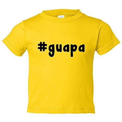 Camiseta niño Hashtag guapa - Amarillo, 3-4 años