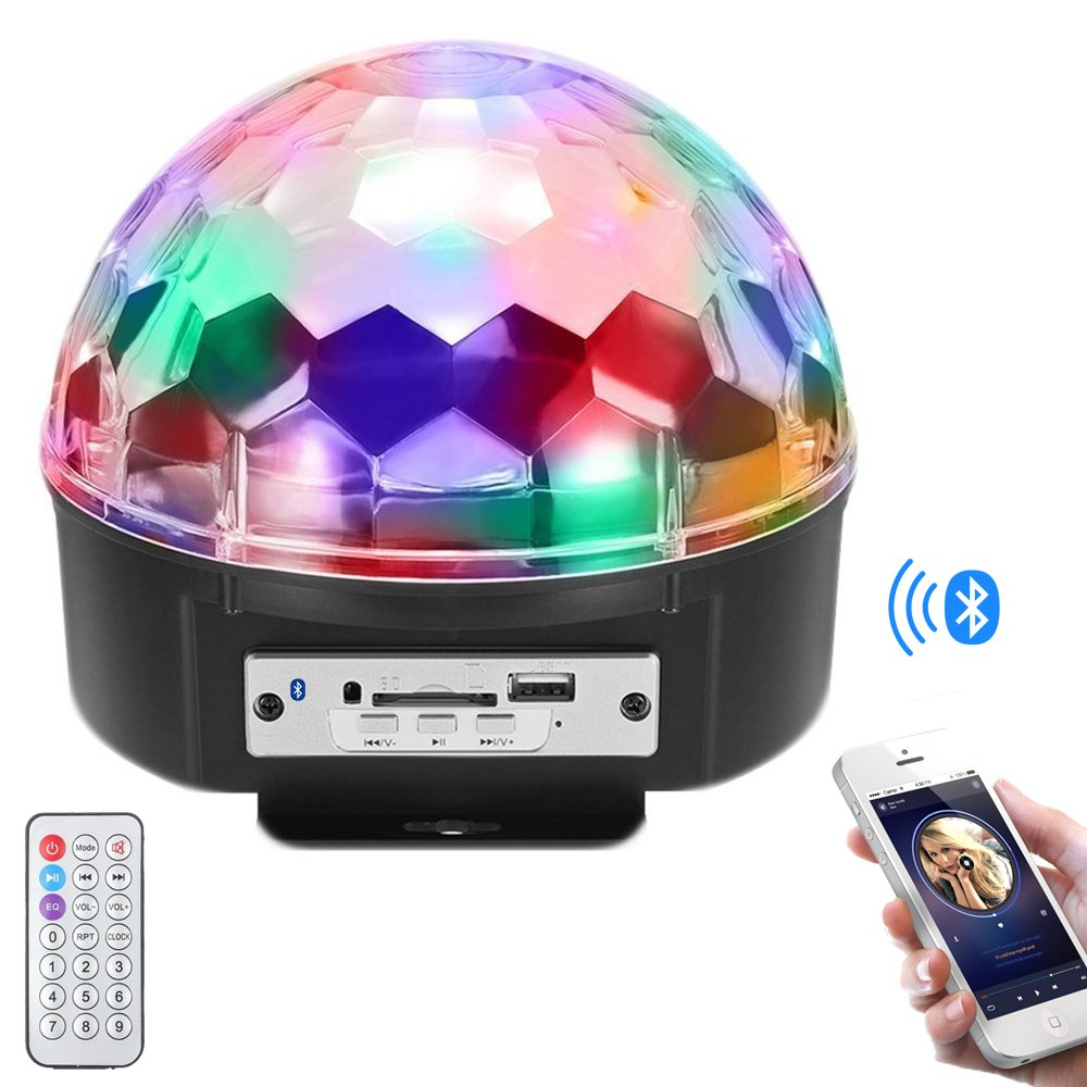 Stage Lights,Prolight LED Grystal magic ball light Led Projection Party Disco Ball DJ Lights Bluetooth Speaker Rotating Light with Remote Control Mp3 Play for KTV Xmas Party Wedding Show Club Pub by Prolight (Image #1)