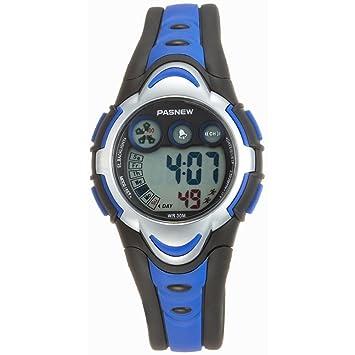 Pasnew LEORX-PSE 276 niños impermeable estudiantes jóvenes niñas Reloj digital LED Watch (blu) Sport: Amazon.es: Electrónica