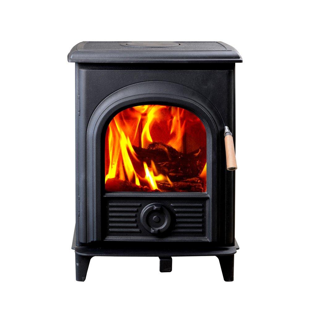 Hi-Flame Shetland HF905U Extra Small Wood Burning Stove, Black Black HF-905U