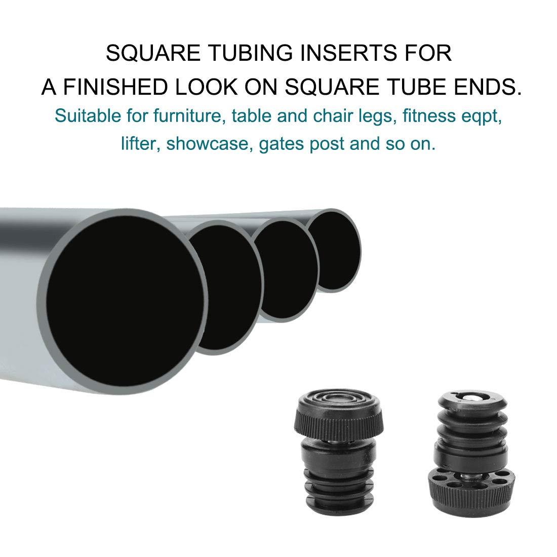 uxcell/® Leveling Feet 1 25mm OD Plastic Round Tube Inserts Kit Furniture Glide Adjustable Leveler for Sofa Leg 2 Sets