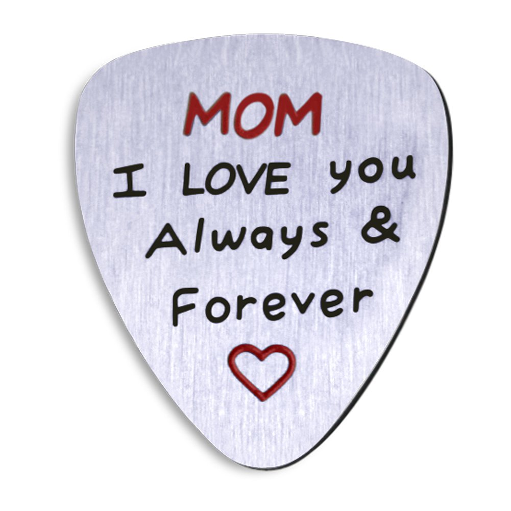 Amazon.com: NationInFashion Perfect Mother's Day Guitar Pick- gift from  daughter or son. Mom I love you always and forever coin.: Musical  Instruments