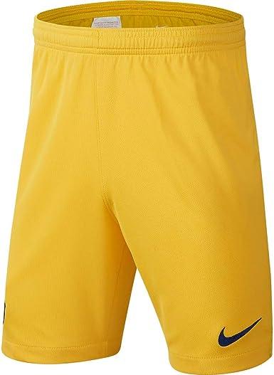 Nike Barcelona Away 2019 2020 Pantalones Cortos Para Nino 116 128 Amarillo Amazon Es Deportes Y Aire Libre