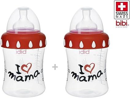 Plastique Bibi Bouteilles Biberon I Love Mama Et Papa Is le Meilleur Glas Et Plastique Mama 2er 250 ML