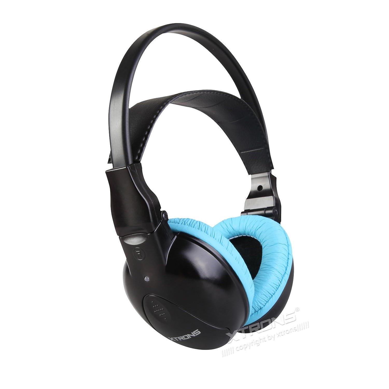 Dual por infrarrojos Xtrons canales estéreo inalámbrico por infrarrojos inalámbrico auriculares 2 canales para niños con-infrarrojos transmisor: Amazon.es: ...