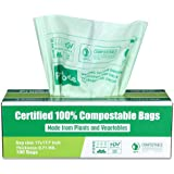 Primode 100% Compostable Trash Bags, 3 Gallon Food Scraps Yard Waste Bags, 100 Count, Extra Thick 0.71 Mil. ASTM D6400 Compos