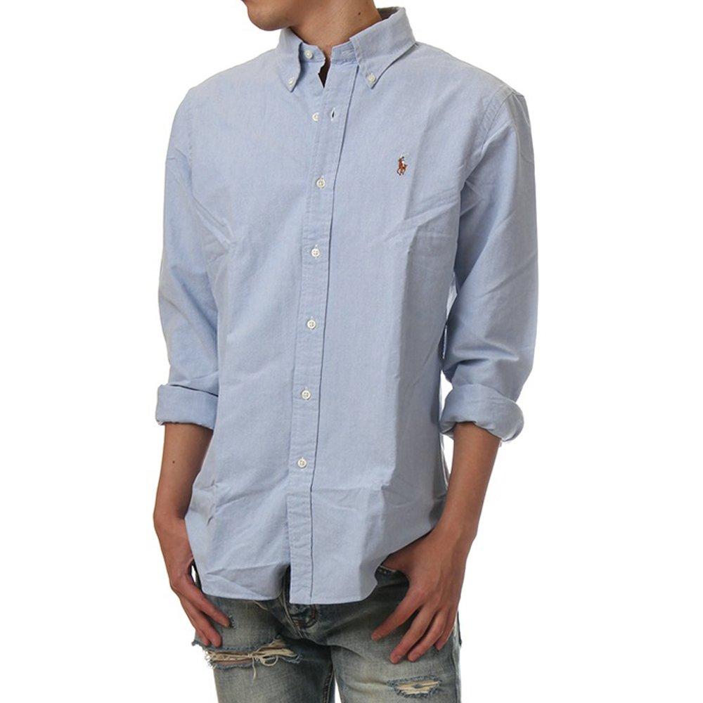 (ポロ ラルフローレン) POLO RALPH LAUREN/Oxford Button-down shirt XS-2XL ボタンダウン クラシック 長袖シャツ オックスフォードシャツ ユニセックス [並行輸入品] B07BF4Q533 XX-Large ブルー(ライトブルー) ブルー(ライトブルー) XX-Large