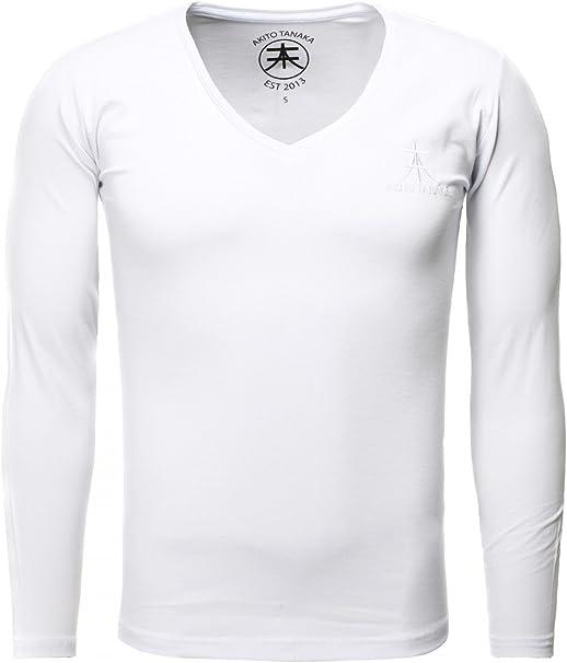 Akito Tanaka T Shirt à Manches Longues Uni Manches Longues Homme