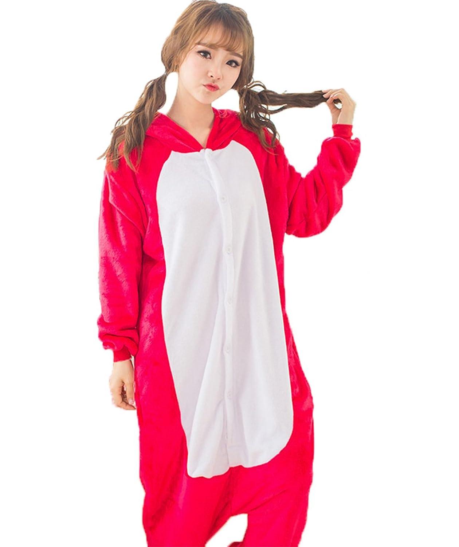 Women's Red Bull Onesie Adult Pajamas Cosplay Costume