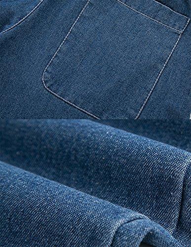 Senora Cintura Relaxed Ancho Jeans Pierna Anchos Pantalones Mujer Azul Alta Palazzo Vaqueros OR5Ixf7qw