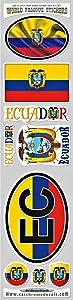 Ecuador 9 stickers set flags decals bumper stiker car auto bike laptop