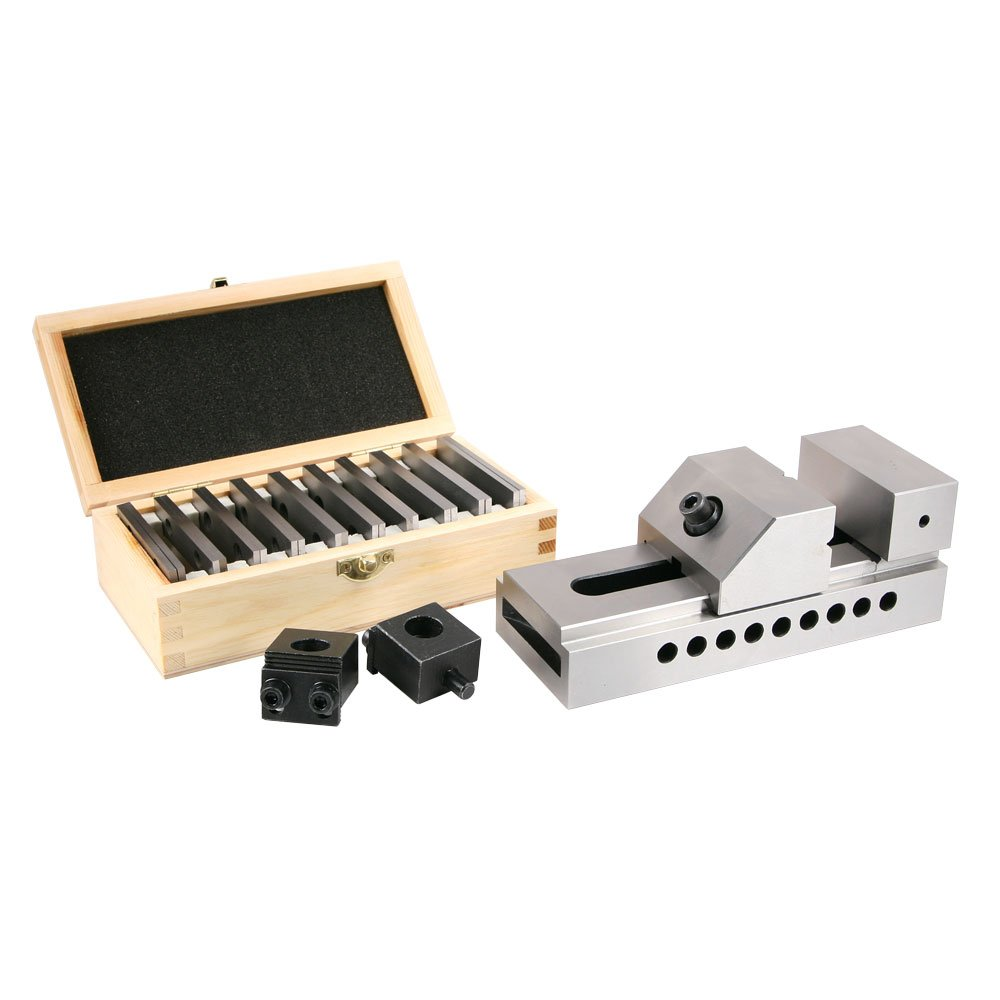 Vise, 3'' Screwless plus Parallels and Mounting Clamps by LittleMachineShop.com
