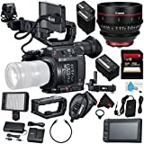 Canon EOS C200 EF Cinema Camera #2215C002 (International Model) + Canon CN-E 24mm T1.5 L F Cinema Prime Lens (EF Mount) + Canon BP-A60 Battery + Canon GPS Receiver GP-E2 + 256GB SDXC Card Bundle