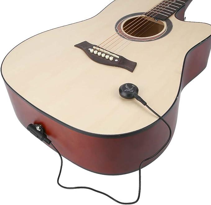 Dilwe Mini Piezo Pickup, Contacto Transductor de Micrófono para ...