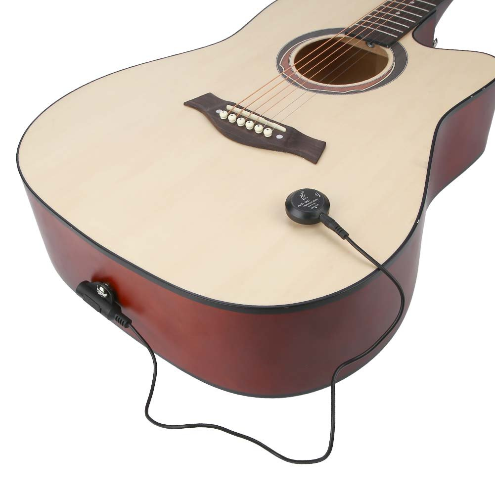 Dilwe Mini Piezo Pickup, Contacto Transductor de Micrófono para Guitarra Acústica Violín Ukelele: Amazon.es: Deportes y aire libre