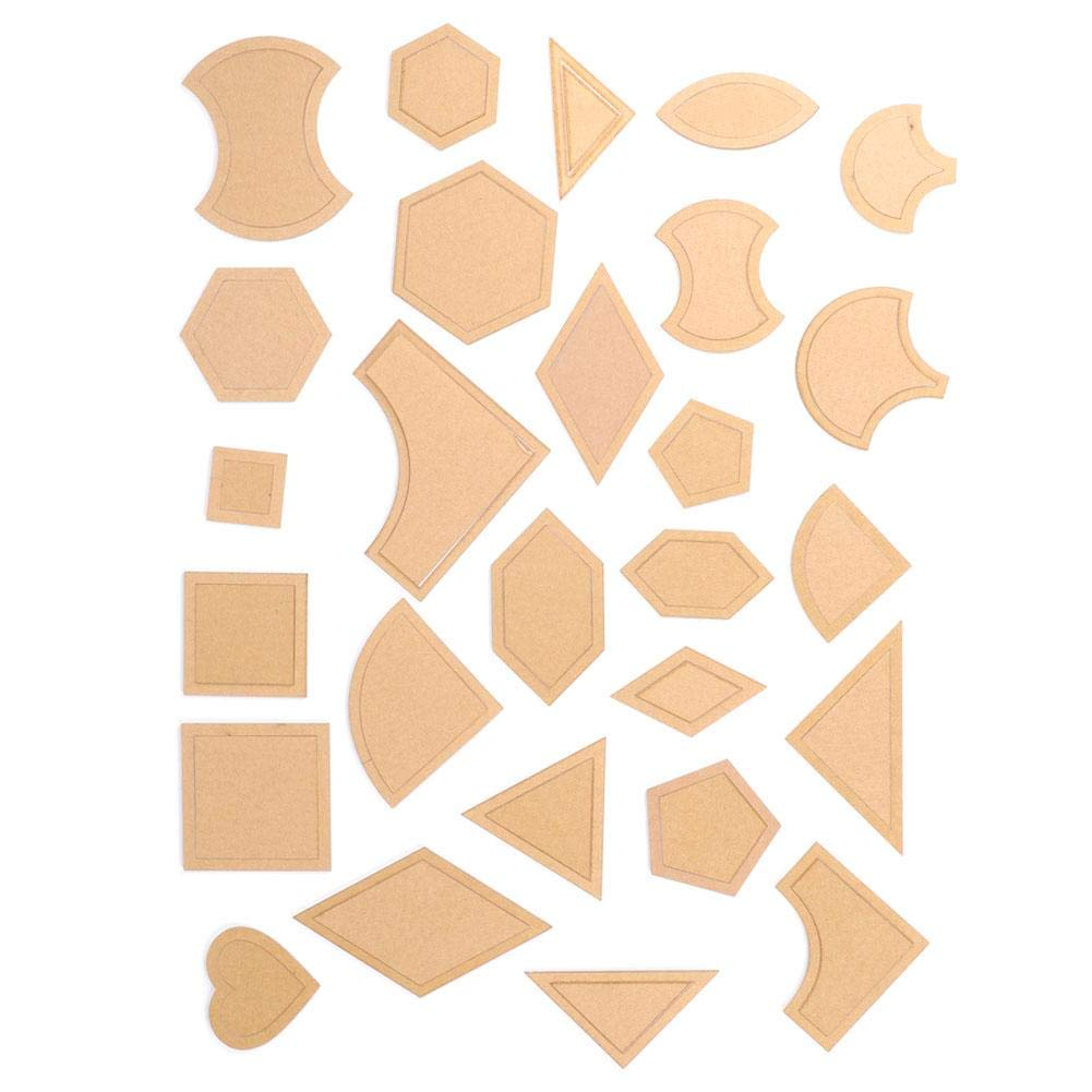HEEPDD 27Pcs//Set Reusable Transparent Acrylic Pattern Stencil Set DIY Patch Work for Patchwork Quilt Styling Tool Quilting Sewing Supplies