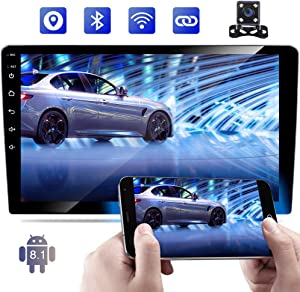 "Android 8.1 Double Din Car Stereo Radio Bluetooth 10.1"" Touch Screen WiFi GPS Navigation FM AM Radio Subwoofer Output USB Car MP5 Player Mirror Link Steering Wheel Control + Backup Camera"
