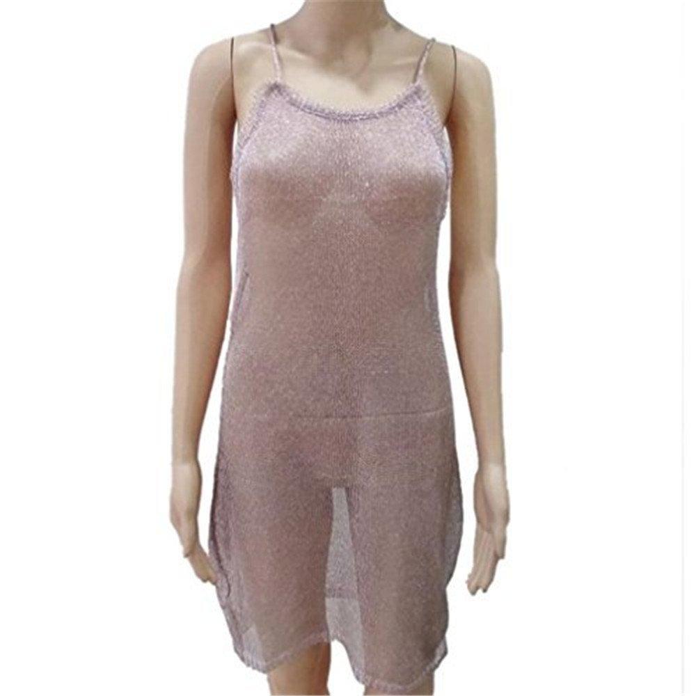YJYda Sexy Blusa sin mangas Perspectiva Vestido de Playa Cubre Sarong Wrap Bikini, casual , S, Dorado: Amazon.es: Deportes y aire libre