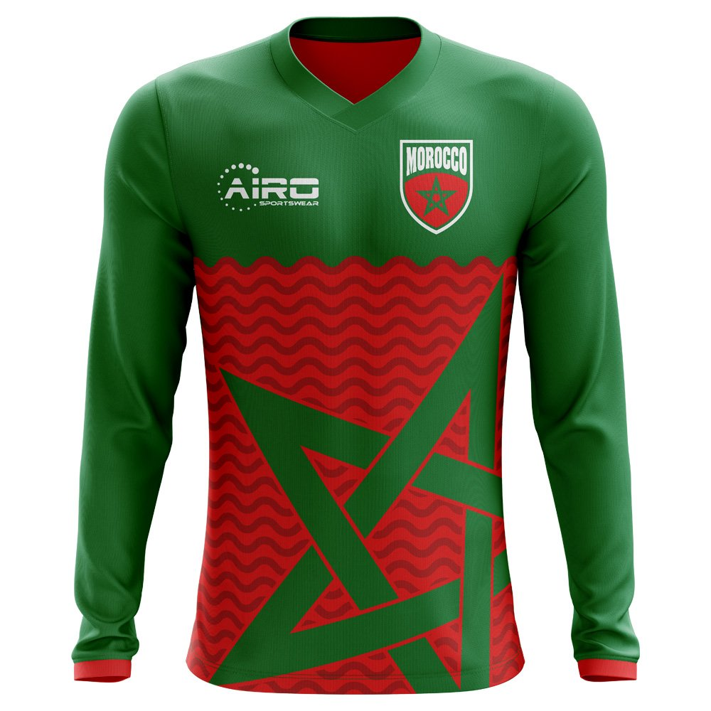 Airo Sportswear 2018-2019 Morocco Long Sleeve Home Concept Football Soccer T-Shirt Trikot