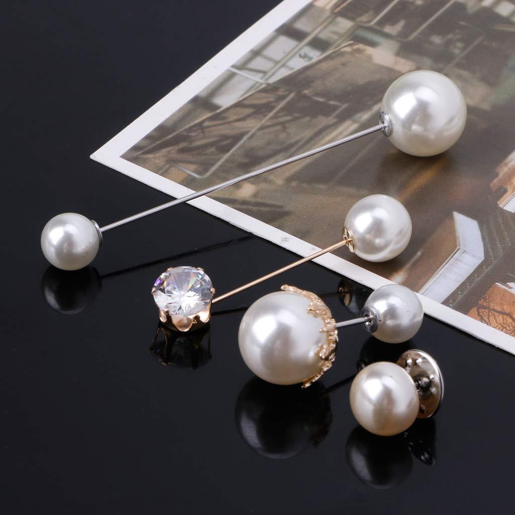 FlyHigh-Brosche-Mischung im klassischen Stil Imitation Perle Broschen Sicherheitsnadeln Set f/ür Frauen