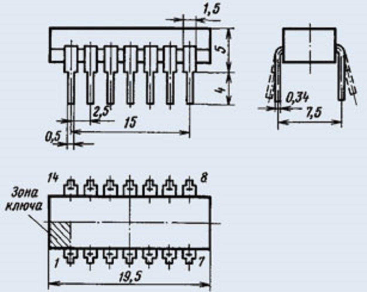 K157HP2 IC Microchip USSR  Lot of 12 pcs