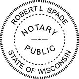 Wisconsin Notary Round Seal Stamp