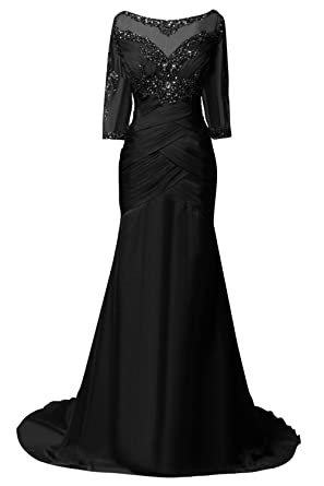 ORIENT BRIDE Women Mother Evening Dresses With Half Sleeves Size 2 US Black