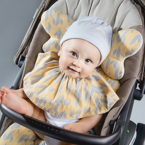 PERRY MACKIN CERTIFIED ORGANIC COTTON STROLLER LINER (BLUE STRIPE) by Perry Mackin (Image #2)