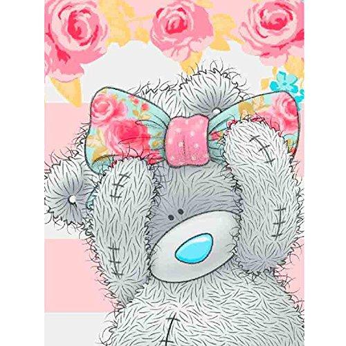 - DENER❤️ 5D Embroidery Paintings Little Bear Rhinestone Pasted DIY Diamond Painting Cross Stitch Decoration (20x25cm)
