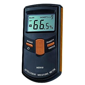 Dr. Meter® MD918 Medidor Inteligente de Humedad de la Madera, Humidímetro Digital sin PIN - Rango 4% ~ 80% RH, Precisión 0.5%