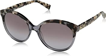 Max Mara Womens Mm Eyebrow I Round Sunglasses, Grey Black Spotted, ...
