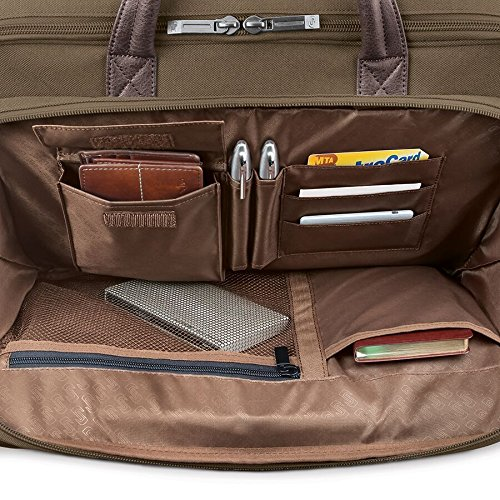 Solo Rucker 15.6 Inch Laptop Briefcase, Khaki by SOLO (Image #2)