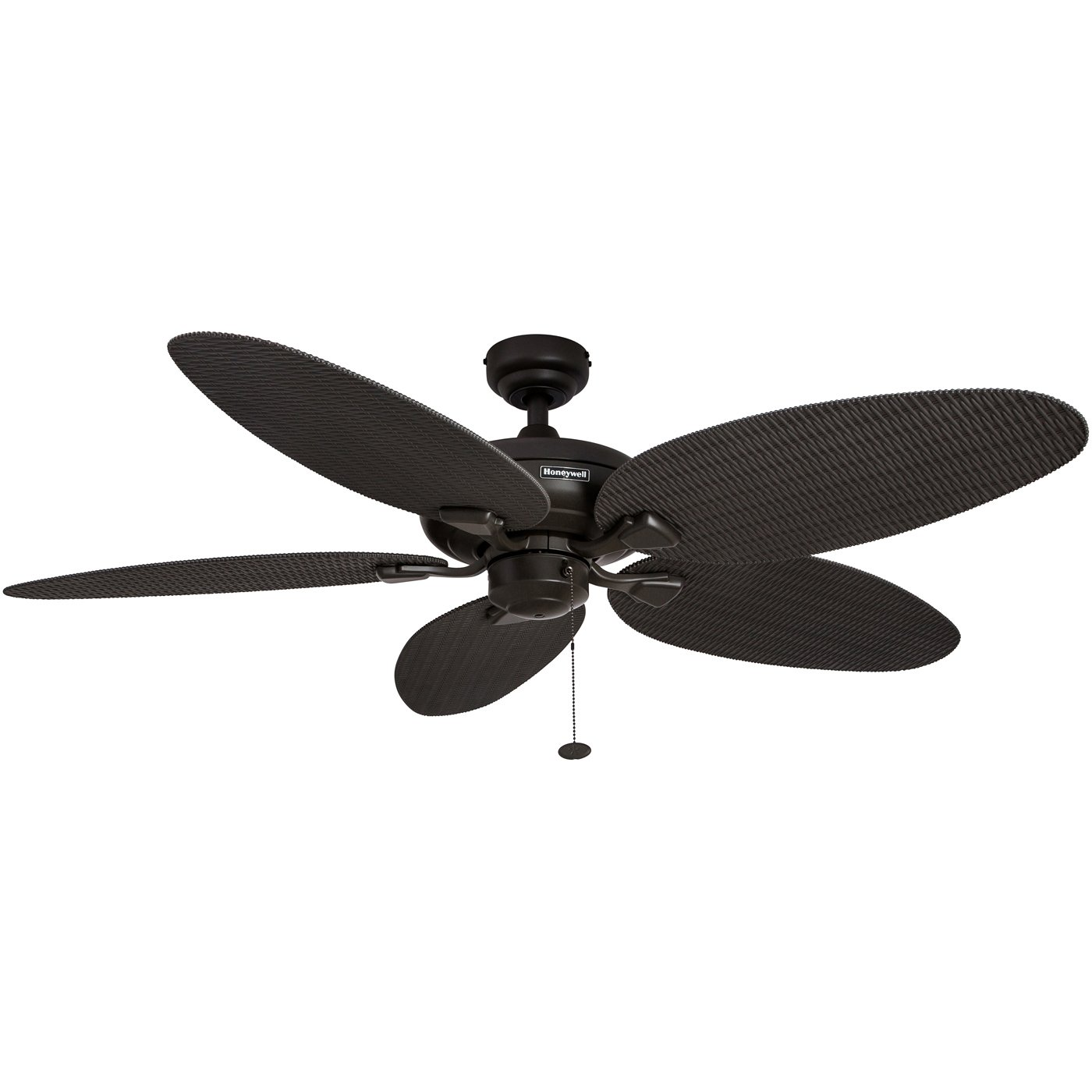 Honeywell Duvall 52-Inch Tropical Ceiling Fan with Five Wet Rated Wicker Blades, Indoor/Outdoor Rated, Bronze by Honeywell Ceiling Fans
